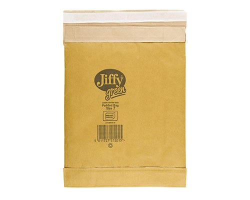 jiffy green padded bags