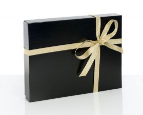 Black Gift Boxes with Lids
