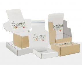 Boxes with Seasons Greetings