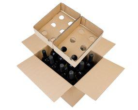 Cardboard Wine Bottle Box - 12 Bottles
