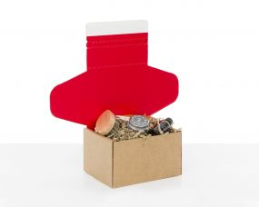 Red Cardboard Boxes for E-commerce