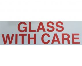 Warning Labels - GLASS WITH CARE
