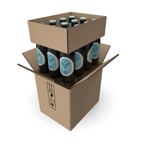 Cardboard Beer Boxes 12 Bottles 330 ml
