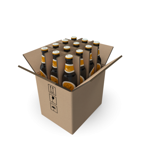 12 Bottle Shipping Box - 500ml