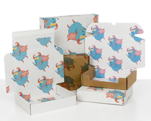 Boxes with Kids Monsters Print