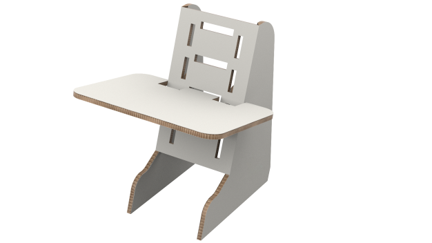 Home Office Cardboard Desk