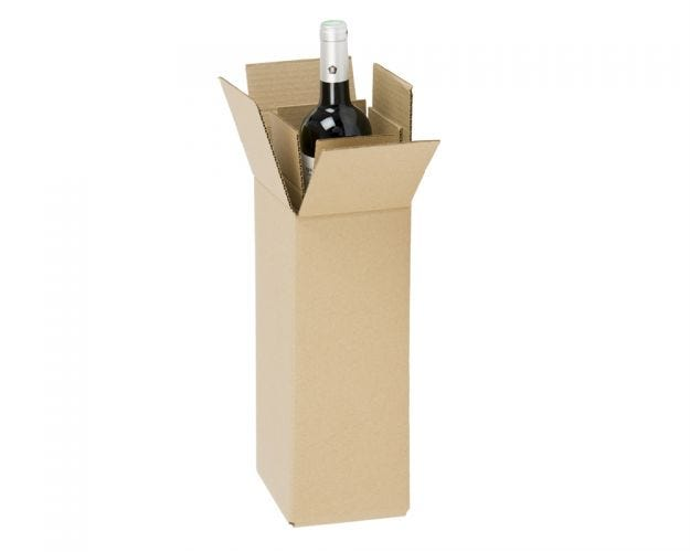 Cardboard Wine Boxes - 1 Bottle