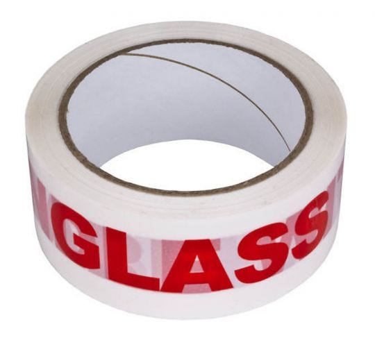 Warning Tape GLASS WITH CARE