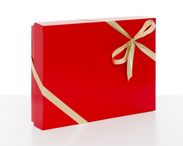 Red Gift Boxes with Lids